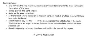 CHRISTMAS HYMNS - 3 Easy Chimes & Bells Arrangements BUNDLE #3