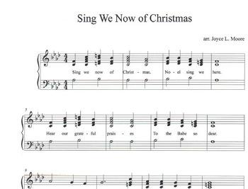 Christmas Hymns.Christmas Hymns 3 Easy Chimes Bells Arrangements Bundle 3