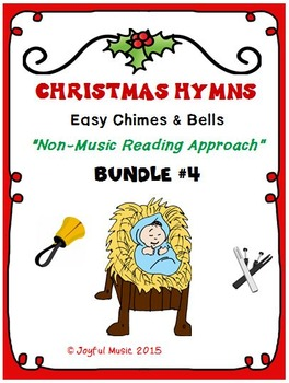 CHRISTMAS HYMNS - 3 Easy Chimes & Bells Arrangements BUNDLE #4
