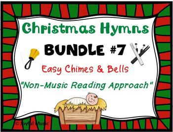 CHRISTMAS HYMNS - 3 Easy Chimes & Bells Arrangements BUNDLE #7