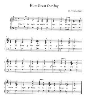 Christmas Hymns.Christmas Hymns 3 Easy Chimes Bells Arrangements Bundle 7