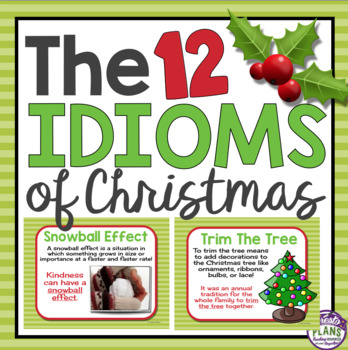 christmas idioms posters activity - Christmas Idioms