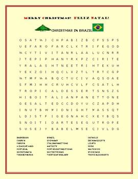 CHRISTMAS IN BRAZIL: A FUN WORD SEARCH