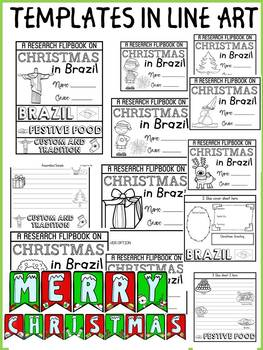 CHRISTMAS IN BRAZIL INFORMATIONAL REPORT WRITING RESEARCH FLIPBOOK