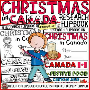 CHRISTMAS IN CANADA INFORMATIONAL REPORT WRITING RESEARCH FLIPBOOK