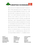 CHRISTMAS IN DENMARK WORD SEARCH