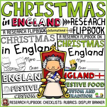 CHRISTMAS IN ENGLAND INFORMATIONAL REPORT WRITING RESEARCH FLIPBOOK