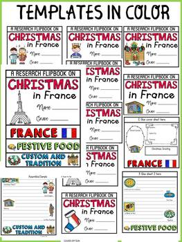 CHRISTMAS IN FRANCE INFORMATIONAL REPORT WRITING RESEARCH FLIPBOOK