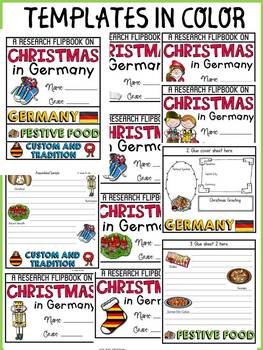 CHRISTMAS IN GERMANY INFORMATIONAL REPORT WRITING RESEARCH FLIPBOOK