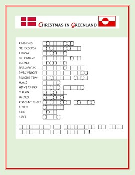 CHRISTMAS IN GREENLAND- WORD JUMBLE PUZZLE: A CHALLENGE!