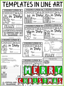 CHRISTMAS IN ITALY INFORMATIONAL REPORT WRITING RESEARCH FLIPBOOK