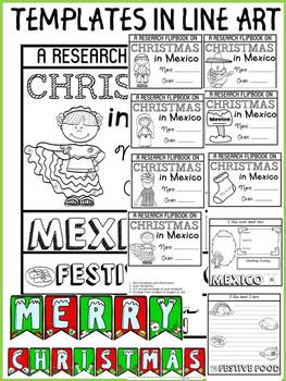 CHRISTMAS IN MEXICO INFORMATIONAL REPORT WRITING RESEARCH FLIPBOOK
