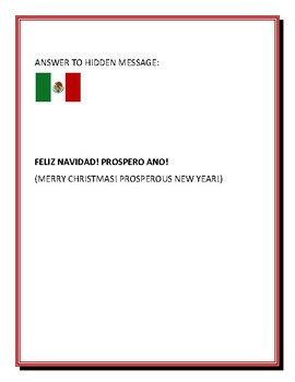 CHRISTMAS IN MEXICO WORD SEARCH WITH HIDDEN MESSAGE!