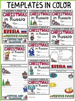 CHRISTMAS IN RUSSIA INFORMATIONAL REPORT WRITING RESEARCH FLIPBOOK