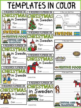 CHRISTMAS IN SWEDEN INFORMATIONAL REPORT WRITING RESEARCH FLIPBOOK