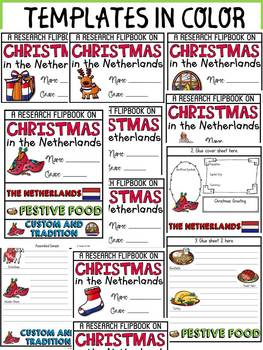CHRISTMAS IN THE NETHERLANDS INFORMATIONAL REPORT WRITING RESEARCH FLIPBOOK
