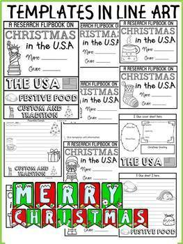 CHRISTMAS IN THE USA INFORMATIONAL REPORT WRITING RESEARCH FLIPBOOK