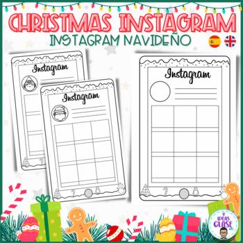 CHRISTMAS INSTAGRAM. INSTAGRAM NAVIDEÑO. Back winter break. Instagram templates.