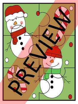 CHRISTMAS JIGSAW PUZZLES - COLOR VERSION
