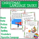 CHRISTMAS LANGUAGE ARTS SKILLS Task Cards and Activities