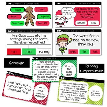 CHRISTMAS LITERACY INTERACTIVE POWERPOINT PREP-2