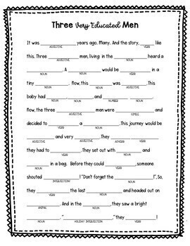 CHRISTMAS ACTIVITY - GRAMMAR - LANGUAGE REVIEW - MAD LIBS FUN