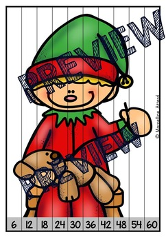 CHRISTMAS MATH CENTER: CHRISTMAS SKIP COUNTING PUZZLES: SANTA'S WORKSHOP THEME
