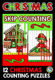 CHRISTMAS ACTIVITIES 2ND GRADE (SKIP COUNTING PUZZLES) SANTA'S WORKSHOP THEME