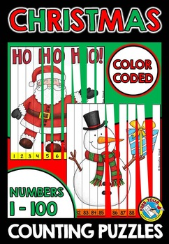 CHRISTMAS ACTIVITY KINDERGARTEN, FIRST GRADE (NUMBERS TO 100 PUZZLES)