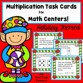 CHRISTMAS MATH Multiplication Task Cards