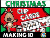 CHRISTMAS ACTIVITIES KINDERGARTEN (REINDEER MATH) MAKING TEN CLIP CARDS
