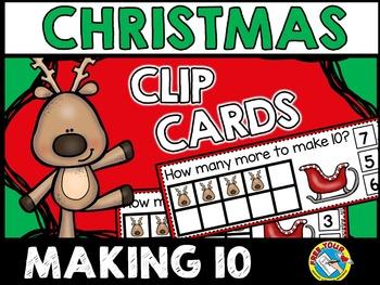CHRISTMAS MATH: REINDEER MAKING TEN TASK CARDS