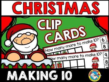 CHRISTMAS MATH CENTER KINDERGARTEN (PRESENTS MAKING 10 TO ADD)