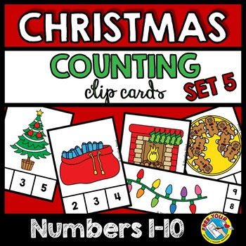 CHRISTMAS MATH ACTIVITIES KINDERGARTEN, PRESCHOOL DECEMBER COUNTING 1-10