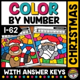 CHRISTMAS MATH ACTIVITY COLOR BY NUMBER WORKSHEETS DECEMBER MORNING WORK