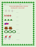 CHRISTMAS MATH ACTIVITY: COUNTING: K/ ESL