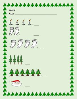 CHRISTMAS MATH ACTIVITY: COUNTING: K/ ESL