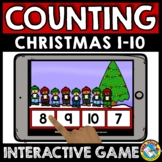 CHRISTMAS MATH BOOM CARDS DECEMBER MORNING WORK ACTIVITY PRESCHOOL COUNT TO 10