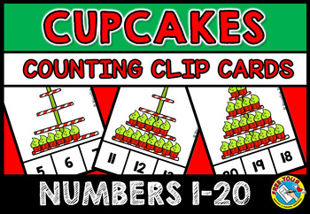 CHRISTMAS MATH CENTER: CUPCAKES KINDERGARTEN COUNTING ACTIVITIES: 1-20
