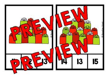 CHRISTMAS MATH CENTER: PRESENTS KINDERGARTEN COUNTING ACTIVITIES: 1-20