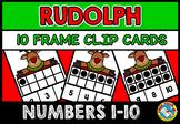 CHRISTMAS MATH CENTER KINDERGARTEN (RUDOLPH TEN FRAMES 1-10 DECEMBER ACTIVITY)