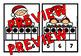CHRISTMAS MATH CENTER: SANTA TEN FRAMES CLIP CARDS (K + PRE K CENTER)