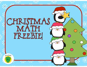 CHRISTMAS MATH FREEBIE!