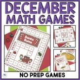 CHRISTMAS MATH GAMES - NO PREP