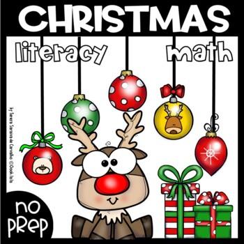 CHRISTMAS MATH & LITERACY N0-PREP