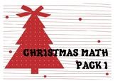CHRISTMAS MATH PACK I. NAVIDAD MATEMÁTICAS PACK I