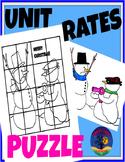 CHRISTMAS MATH PUZZLE - UNIT RATES