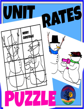 CHRISTMAS MATH PUZZLE - UNIT RATES by Crazy Cool Classroom