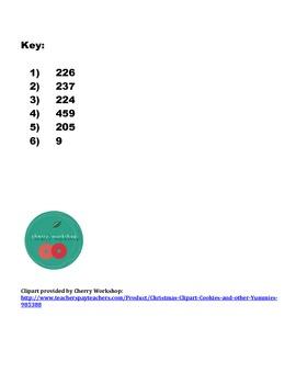 CHRISTMAS! MCC.2.NBT.7 Subtraction to 1000 uses place value base ten blocks