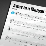 CHRISTMAS MUSIC: Away in a Manger (RECORDER)